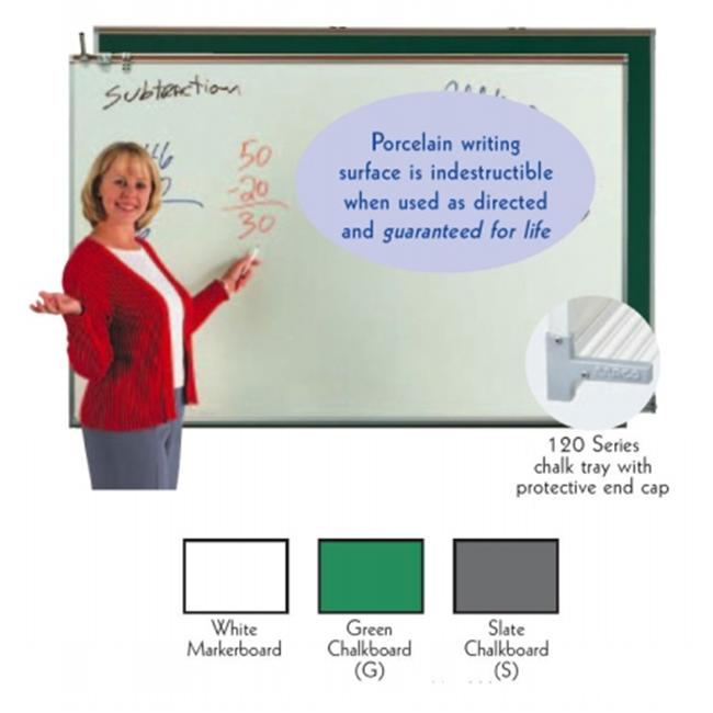 Aarco Products 120A-48CG Porcelain Enamel On Steel Chalkboard - Green