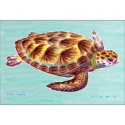 Betsy Drake Interiors Coastal Sea Turtle Doormat