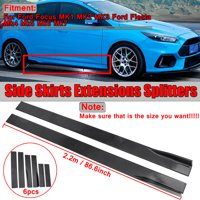 """86.6"""" Universal Lower Side Skirts Extensions Rocker Panel For BMW Mercedes Benz Toyota Honda Camry L LE XLE SE XSE Corolla"""