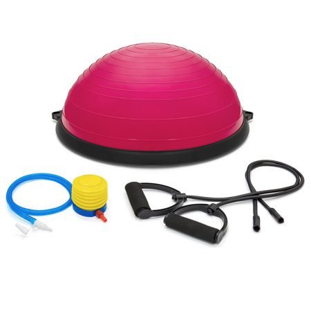 BCP Yoga Balance Ball Trainer with Bands, Pink (Best Exercise For Flabby Underarms)