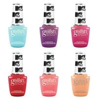 Gelish Summer 2020 MTV Collection 9 mL Soak Off Gel Nail Polish Set, 6 Colors
