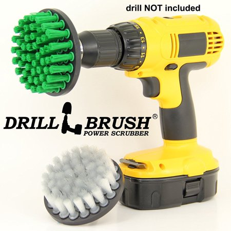 electric scrub nylon brush drill attachment cleaning bit kit by drillbrush. Black Bedroom Furniture Sets. Home Design Ideas