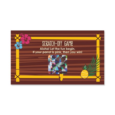 Tiki Luau - Tropical Hawaiian Summer Party Scratch Off Cards - 22 Count (Tiki Bar For Luau Party)