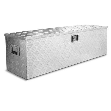 - Stark Premium 48-Inch Aluminum Truck Underbody Flatbox Pickup Tool Box RV ATV Trailer Tool Storage Lock with Keys