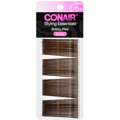 Conair Styling Essentials Brown Bobby Pins, 60ct