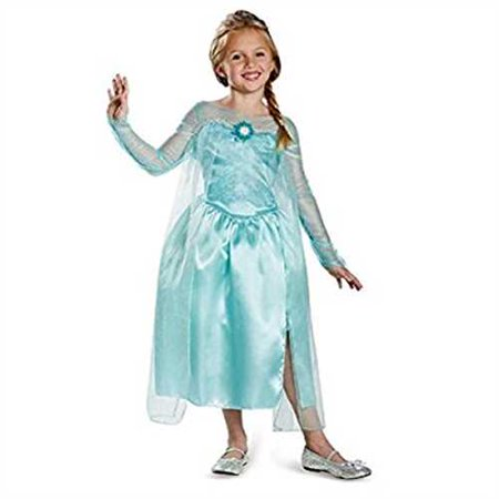 Disguise Disney's Frozen Elsa Snow Queen Gown Classic Girls Costume, X-Small/3T-4T (Disney Frozen Elsa Costume)