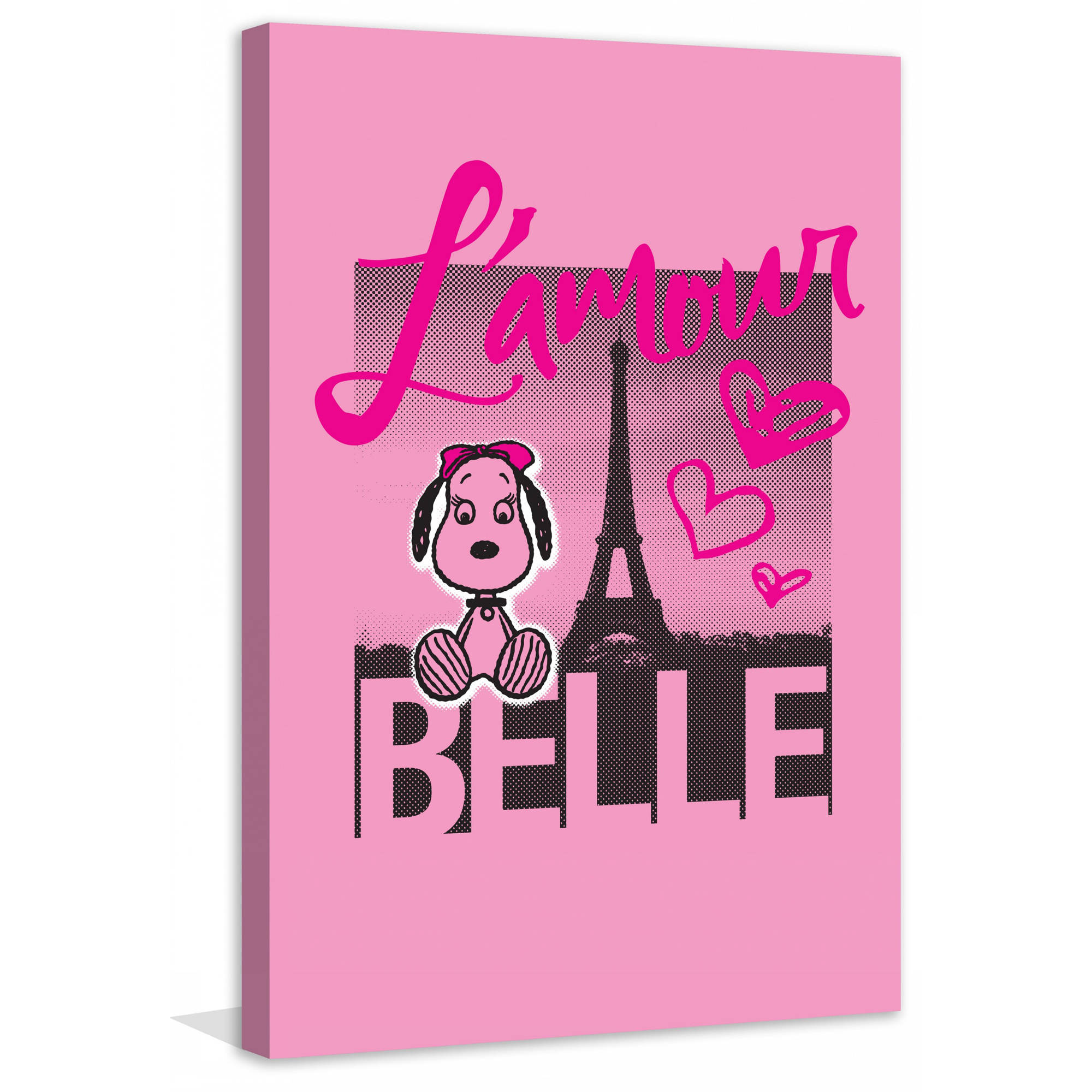 "Marmont Hill ""L'Amour Belle"" Peanuts Print on Canvas"