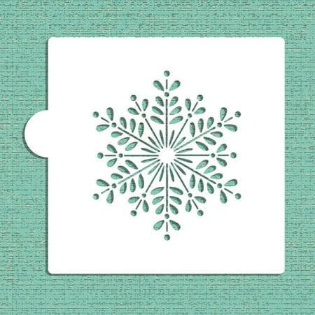 Designer Stencils Retro Snowflake Cookie and Craft Stencil CM042