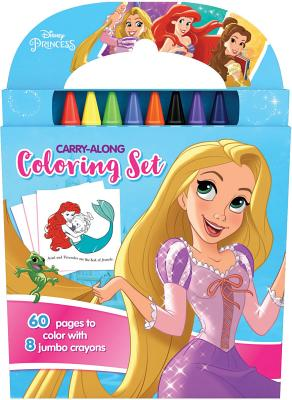 DISNEY PRINCESS Carry Along Colouring Set Activity Book Holiday B-day Party Gift