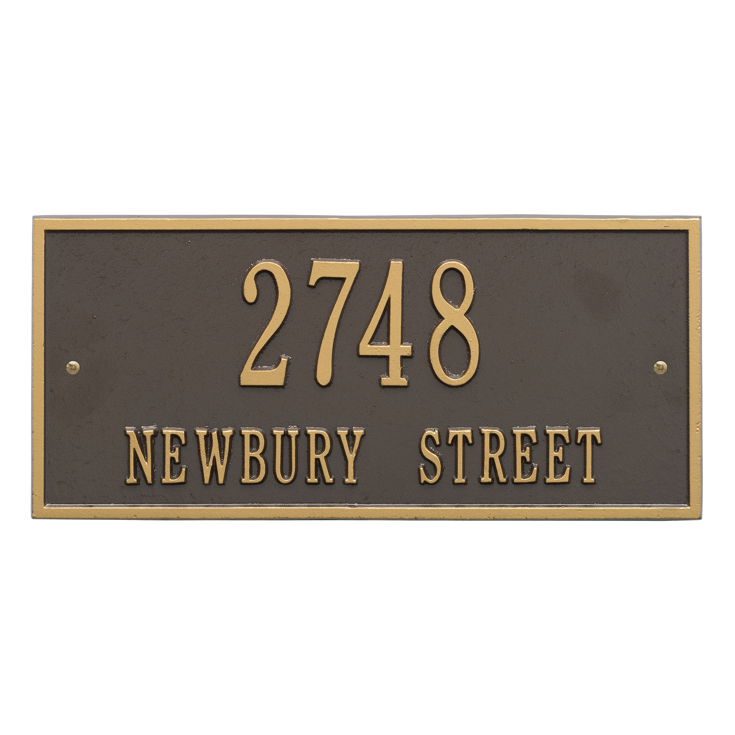 Personalized Whitehall Product Hartford 2 Line Wall Plaque In Bronze Gold Walmart Com Walmart Com