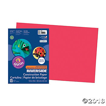 Large Pacon® Riverside® Construction Paper - Red(pack of 1)