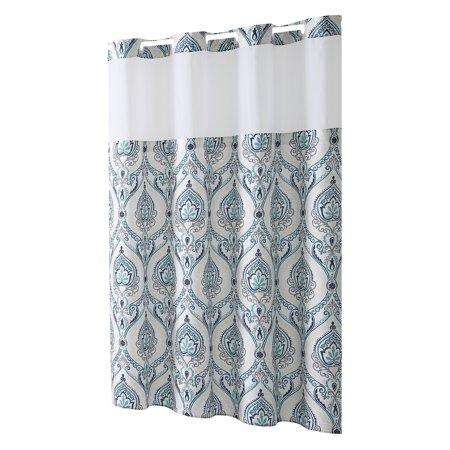 Hookless® French Damask Print Shower Curtain (Tan Damask Shower Curtain)