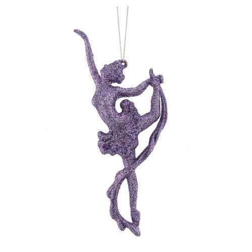 Holiday Time Lilac Ballerina Christmas Ornament