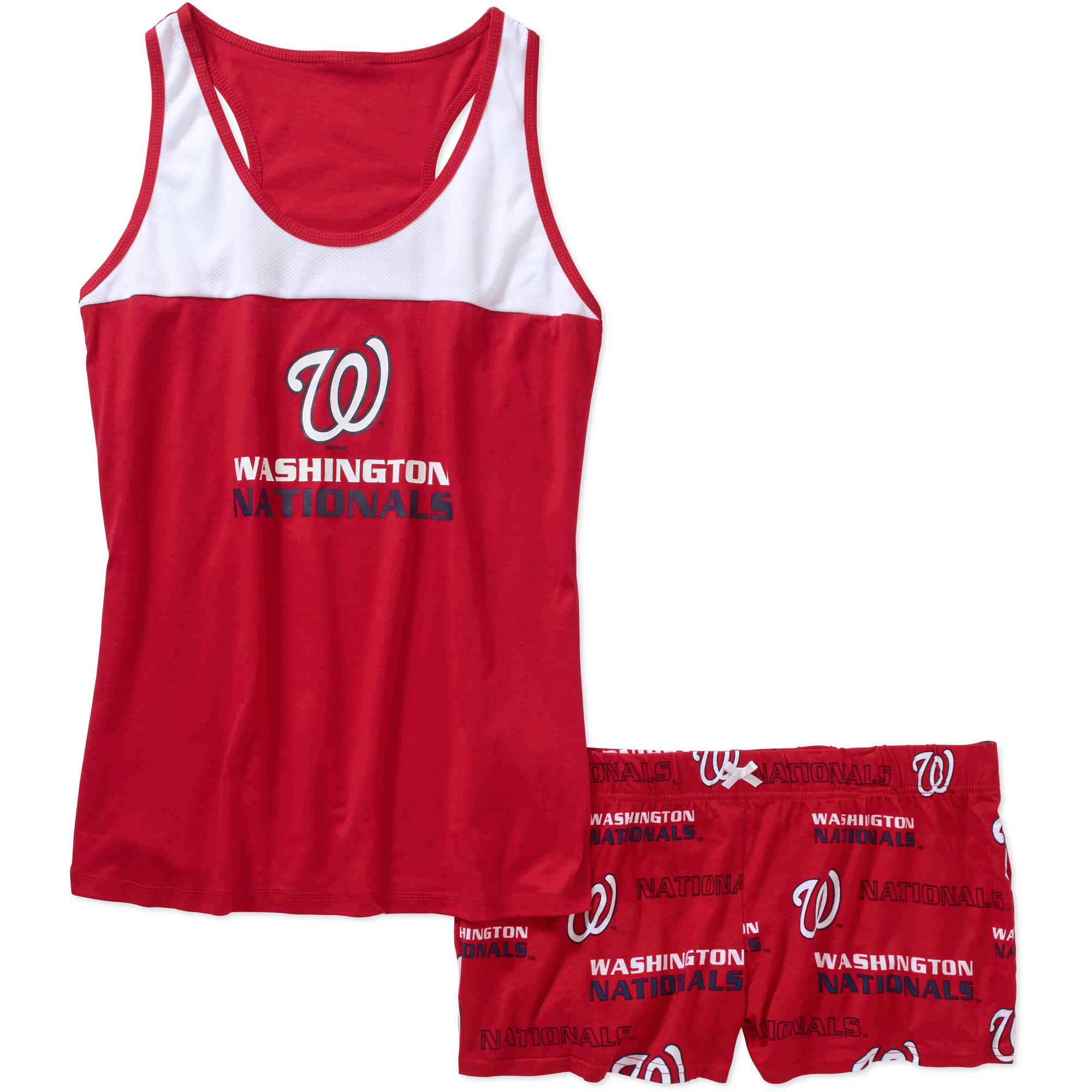 MLB Women's Washington Nationals Tank Top and Shorts Set