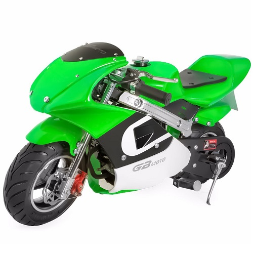 Details about  /Mini Gas Power Pocket Bike Motorcycle 40cc 4-Stroke Engine Kids And Teens Green