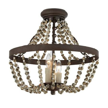 (Savoy House Mallory 6-7403-3-39 Convertible Semi-Flush Mount Light)
