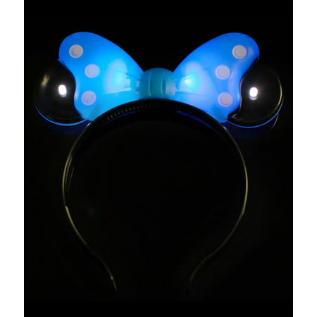 8 PC LED Light Up Polka Dot Minnie Mickey Mouse Bow party Headband - Assorted - Head Band Light