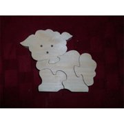 Fine Crafts 1362PUZ Wooden lamb shaped jigsaw puzzle