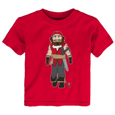 Team Mascot - Tampa Bay Buccaneers Toddler Standing Team Mascot T-Shirt - Red