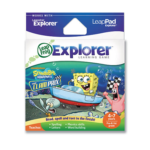 LeapFrog SpongeBob SquarePants: The Clam Prix Learning Game by