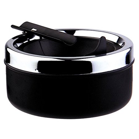 Visol Dash Black Matte Metal Cigar Ashtray