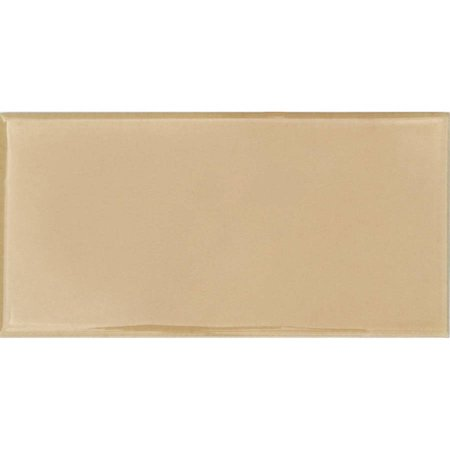 "Solistone 3"" x 6"" Hand-Painted Ceramic Wall Tile in Crema Beige (Price per Case of 10)"