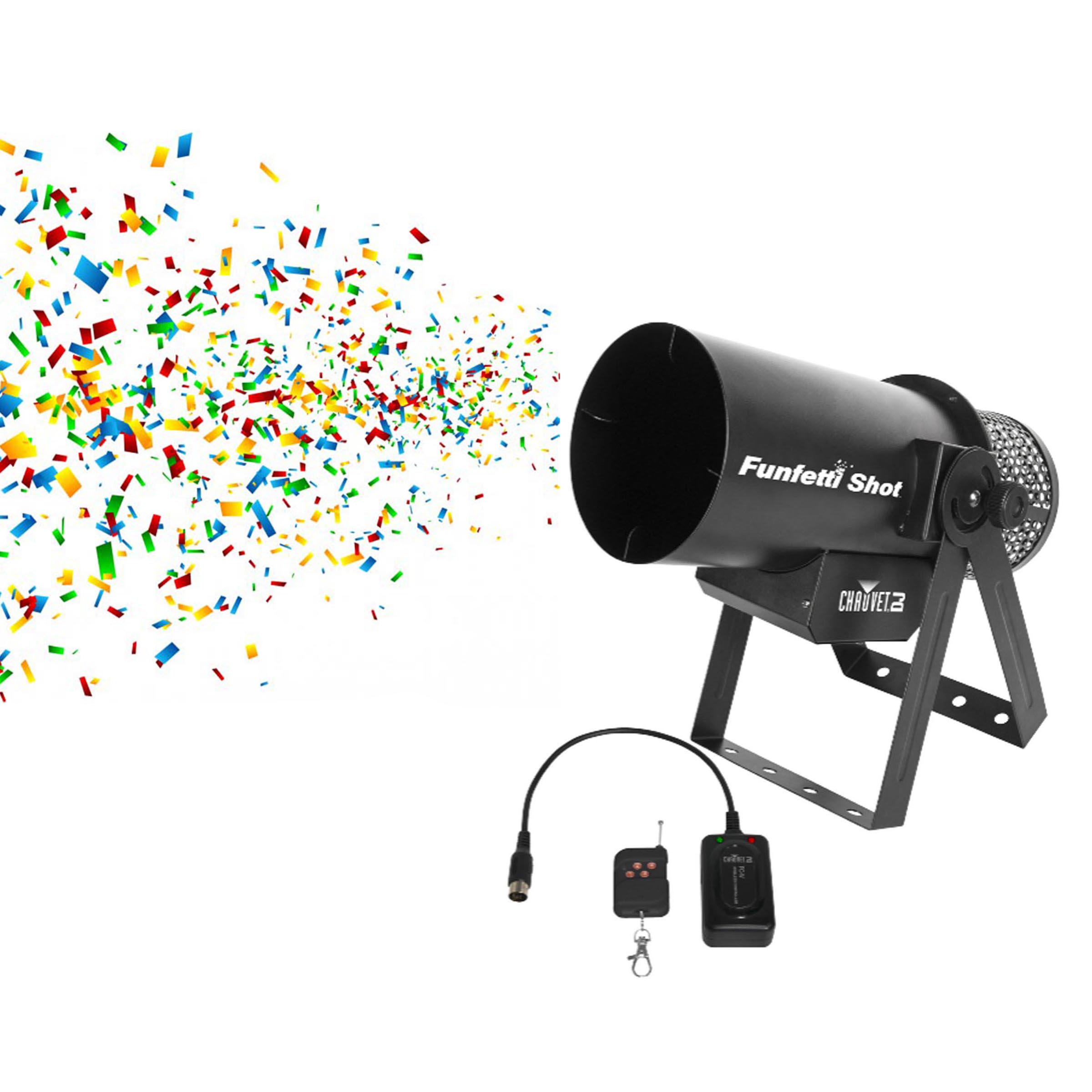 Chauvet DJ Funfetti Shot Professional Special Event Confetti Launcher and Remote