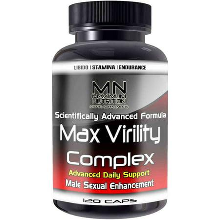 Maximum Nutrition Max Virility Complex Male Enhancement sexuelle, 120 count
