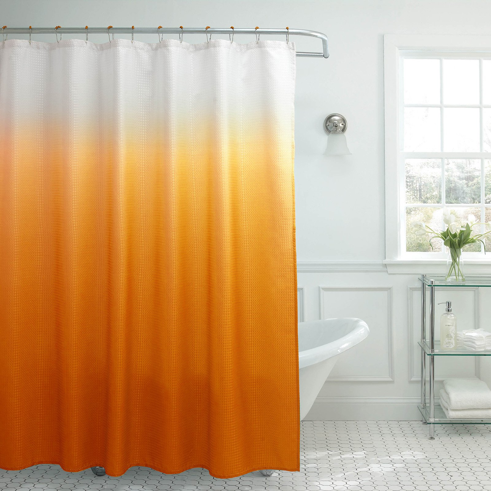 Creative Home Ideas Ombre Textured Shower Curtain With