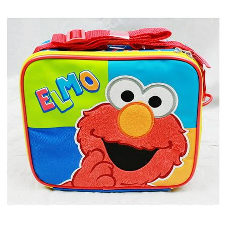 Elmo Bags (Lunch Bag - Sesame Street - Elmo (Blue/Green/Orange) New Boys Gifts)