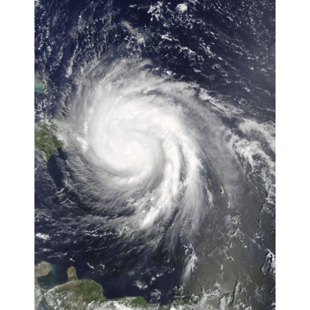 Hurricane Maria Over Puerto Rico Poster Print By Stocktrek Images