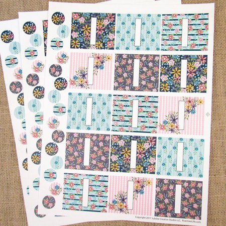 45 Wildflower Poly Weatherproof Labels + 45 Round Stickers - for Essential Oil Aromatherapy DIY by Rivertree Life for $<!---->