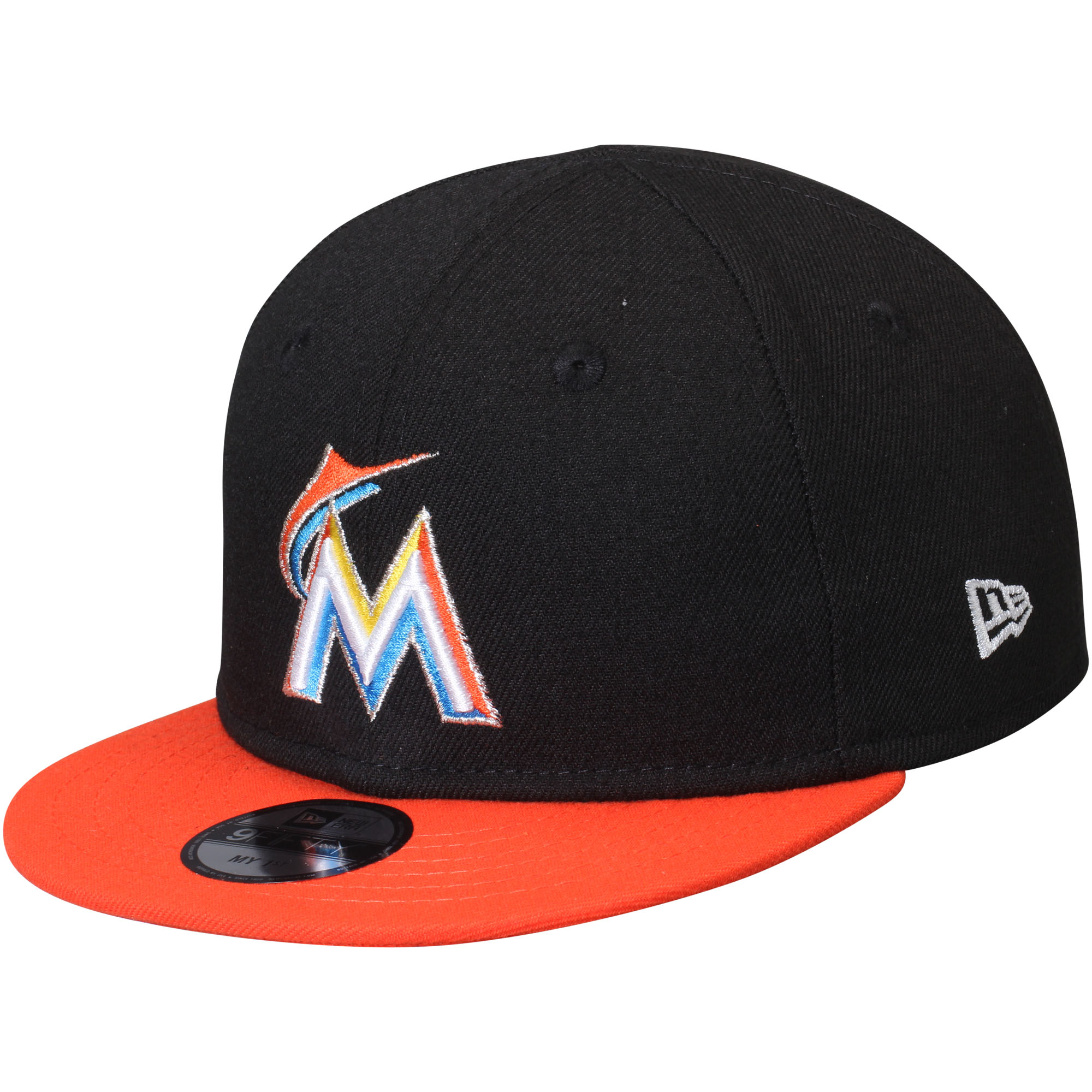 Miami Marlins New Era Infant My First 9FIFTY Adjustable Hat - Black/Orange - OSFA