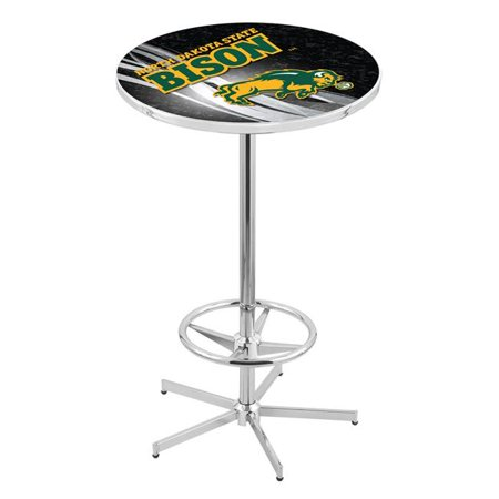 Holland Bar Stool L216C4228NDakSt-B-D2 42 in. North Dakota State Bison Black Pub Table with 28 in. Top, Chrome - image 1 of 1