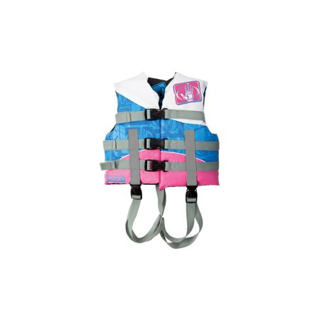 - Body Glove US Coast Guard Approved Child Personal Nylon Life Jacket, White/Pink