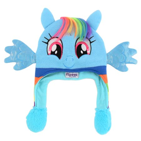 Hasbro My Little Pony Squeeze and Flap Fun Cold Weather Hat, Little Girls, Age 4-7 - My Little Pony Hat