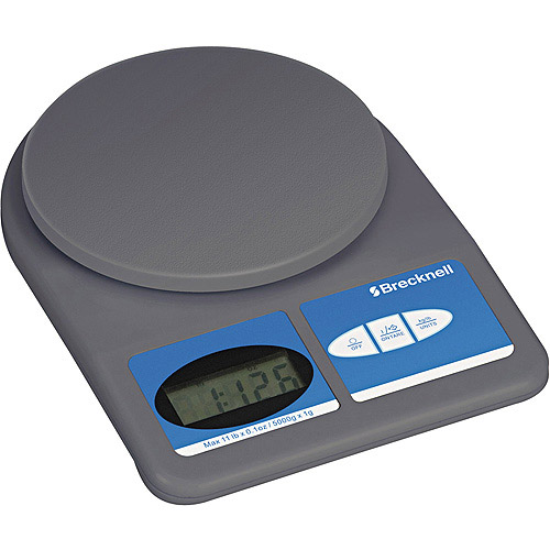 Brecknell - Electronic Weight-Only Utility Scale, 11lb Capacity - 5-3/4 Platform