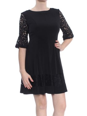 fcdee52137c8 Product Image JESSICA HOWARD Womens Black Lace A-Line Cocktail Dress  Petites Size: 10