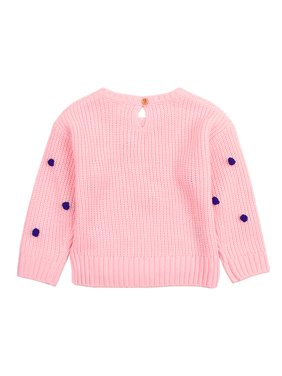 Crochet Pullover Sweater Kid's Strawberry Scoop Neck Knit Tops for Baby