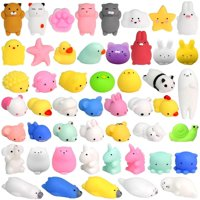 36Pcs Mochi Squishy Toys Mini Squishies Kawaii Animal Squishies Party Favors for Kids Cat Panda Unicorn Squishy Novelty Stress Relief Toys Birthday Gifts Goody Bags Class Prizes Pinata Fillers, Random