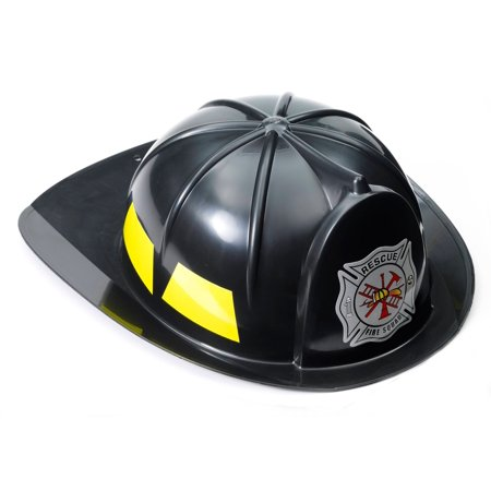 Black Fireman Adult Hat - Fireman Hat Craft