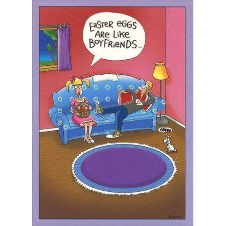 Designer Greetings Are Like Boyfriends Funny Easter Card - Halloween Card Sayings For Boyfriend