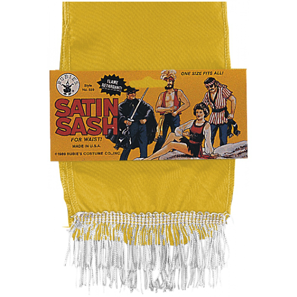Satin Sash Adult Costume Accessory Red