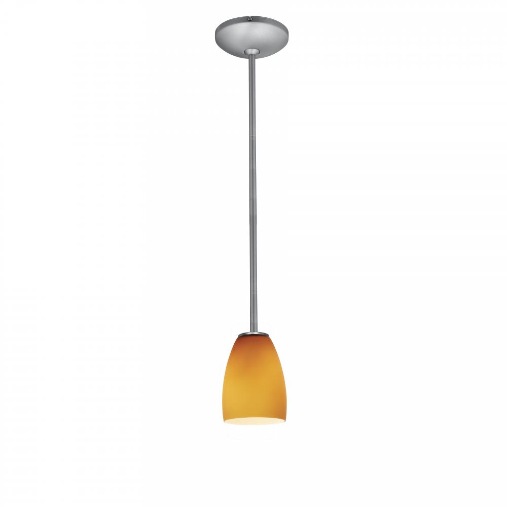 Access Lighting 28069-2R Pendants Julia Indoor Lighting ;Brushed Steel   Opal by
