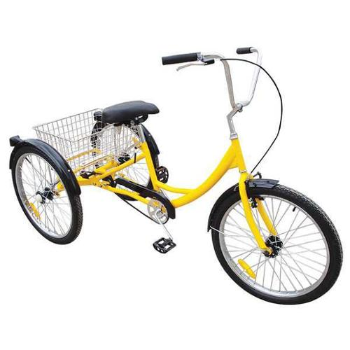 33X829 Industrial Tricycle, 24 In, Rear Basket