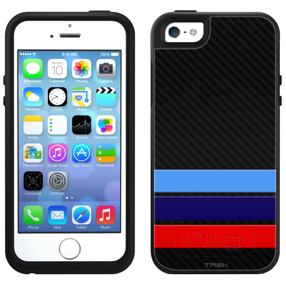 SKIN DECAL FOR OtterBox Symmetry Apple iPhone SE Case - M Carbon DECAL, NOT A CASE