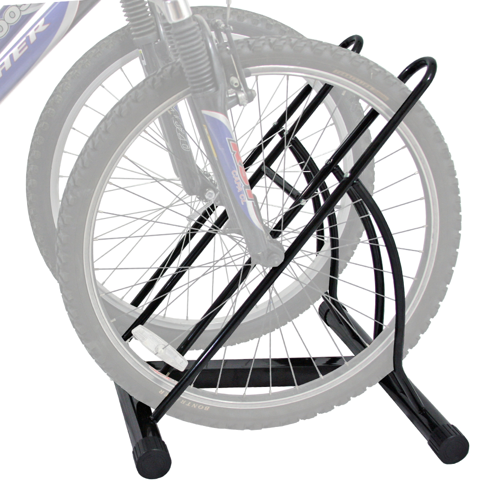 2 Bike Indoor Bicycle Floor Stand