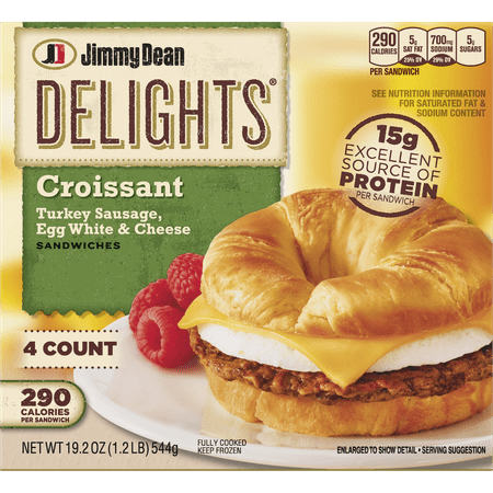 Jimmy Dean Delights Turkey Sausage Egg White Cheese Croissant