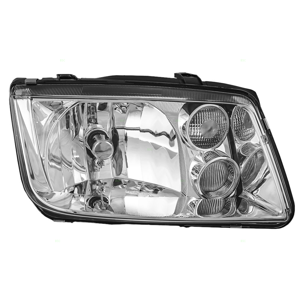 Passengers Headlight Headlamp with Fog Lamp Replacement for Volkswagen 1J5941018AH