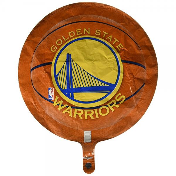 Anagram International Golden State Warriors Flat Party Balloons, 18, Multicolor